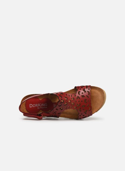 Sandales et nu-pieds Dorking Summer 7846 Rouge vue gauche