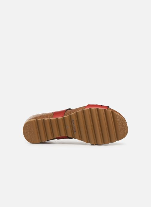 Sandales et nu-pieds Dorking Summer 7846 Rouge vue haut