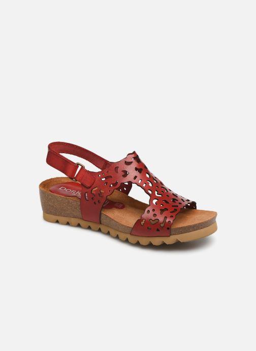 Sandales et nu-pieds Dorking Summer 7846 Rouge vue détail/paire