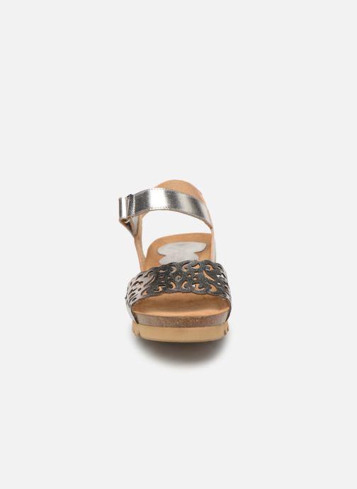 Sandales et nu-pieds Dorking Summer 7847 Argent vue portées chaussures