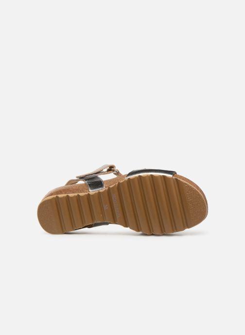 Sandales et nu-pieds Dorking Summer 7847 Argent vue haut