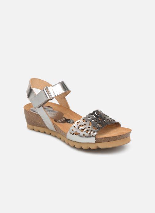 Sandales et nu-pieds Dorking Summer 7847 Argent vue détail/paire