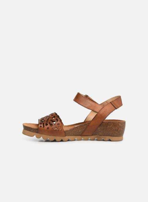 Sandales et nu-pieds Dorking Summer 7847 Marron vue face