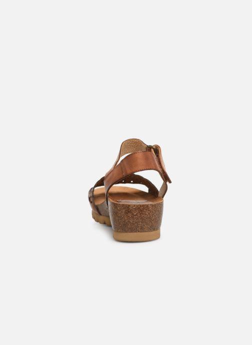 Sandales et nu-pieds Dorking Summer 7847 Marron vue droite