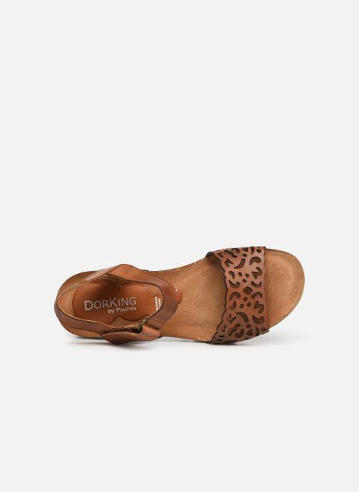 Sandales et nu-pieds Dorking Summer 7847 Marron vue gauche