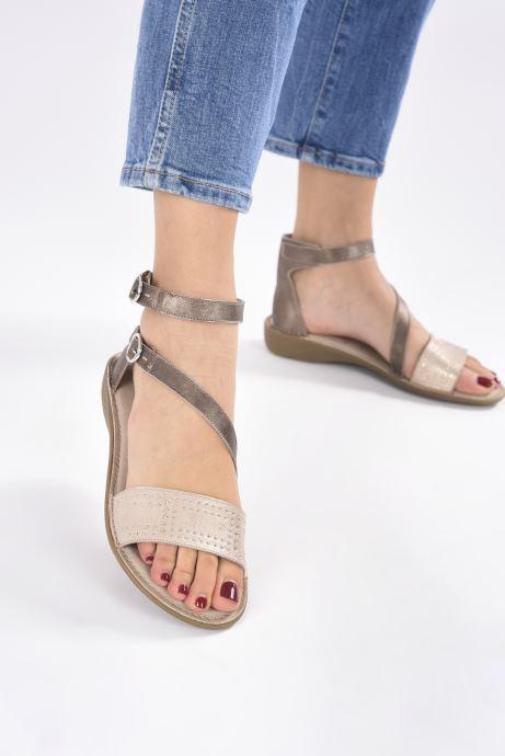 Dorking Oda 7863 (Or et bronze) - Sandales et nu-pieds (352254)