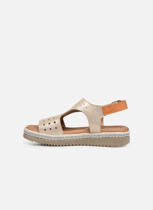 Sandales et nu-pieds Dorking Fresh 7777 Beige vue face