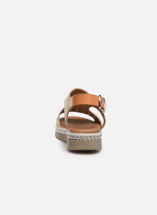 Sandales et nu-pieds Dorking Fresh 7777 Beige vue droite