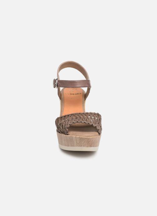 Sandales et nu-pieds Dorking Salma 7757 Marron vue portées chaussures