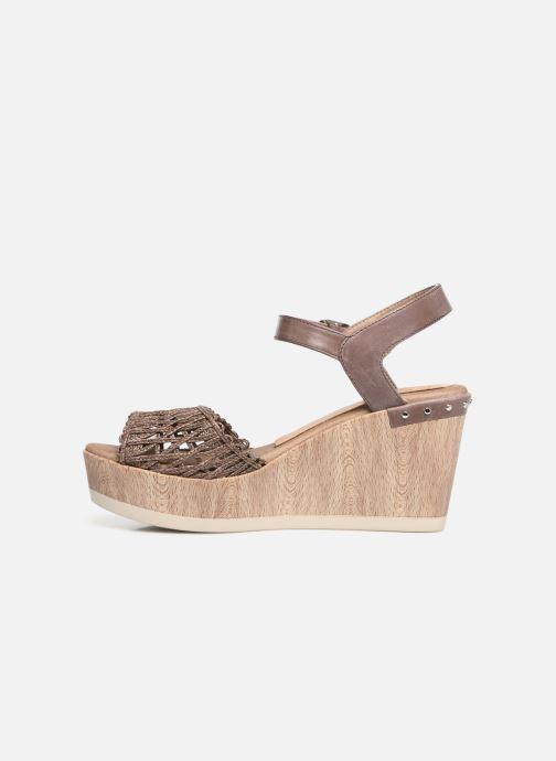 Sandales et nu-pieds Dorking Salma 7757 Marron vue face