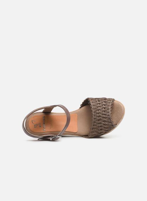 Sandales et nu-pieds Dorking Salma 7757 Marron vue gauche