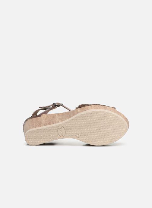 Sandales et nu-pieds Dorking Salma 7757 Marron vue haut