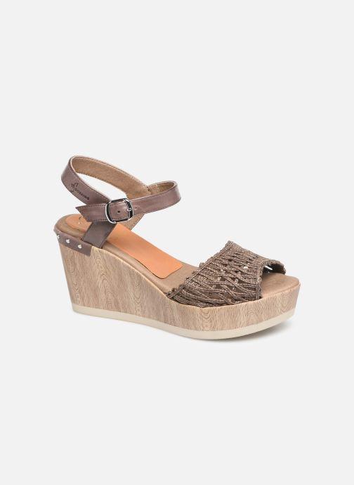 Sandales et nu-pieds Dorking Salma 7757 Marron vue détail/paire