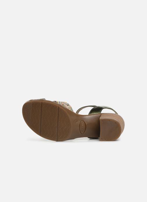 Sandales et nu-pieds Dorking Kolt 7871 Vert vue haut