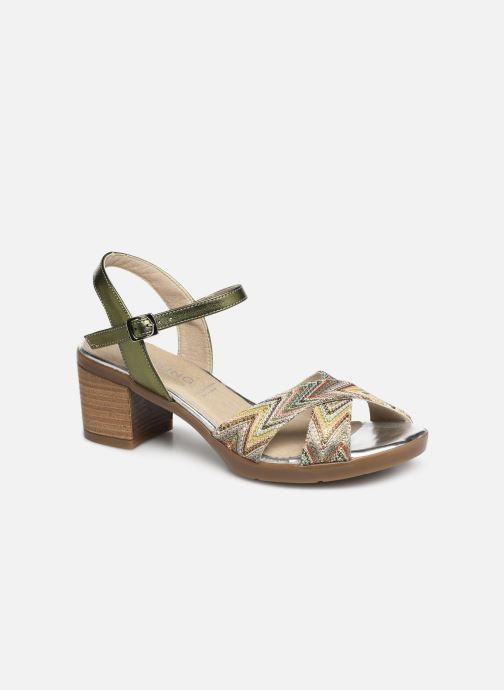 Sandales et nu-pieds Dorking Kolt 7871 Vert vue détail/paire