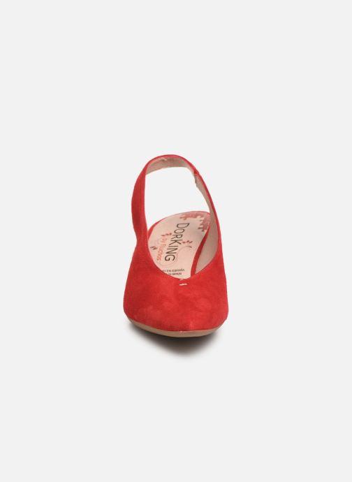 Escarpins Dorking Sofi 7806 Rouge vue portées chaussures