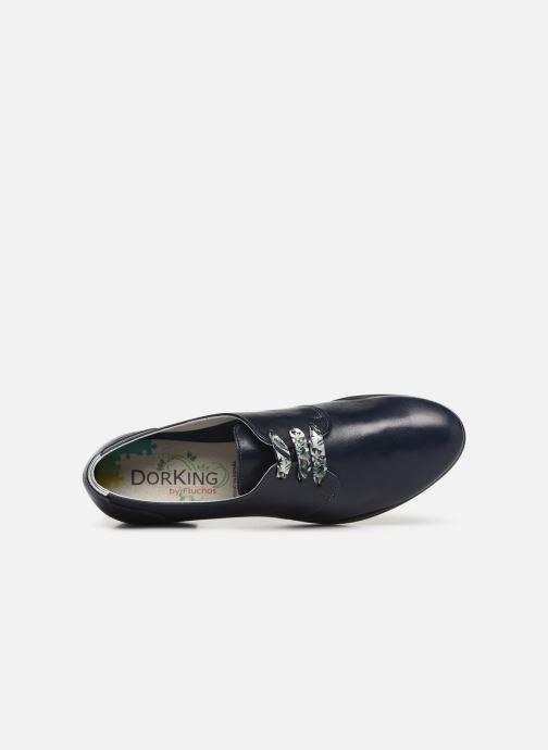 Zapatos con cordones Dorking Bahia 7822 Azul vista lateral izquierda