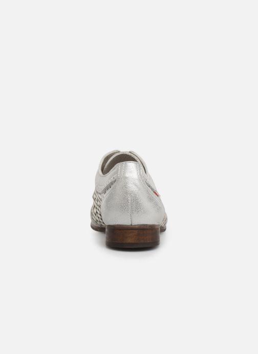 Zapatos con cordones Dorking Bahia 7821 Plateado vista lateral derecha