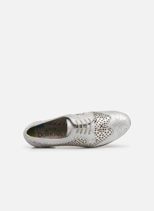 Zapatos con cordones Dorking Bahia 7821 Plateado vista lateral izquierda