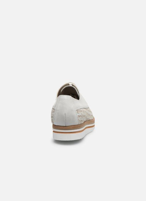 Zapatos con cordones Dorking Romy 7852 Blanco vista lateral derecha