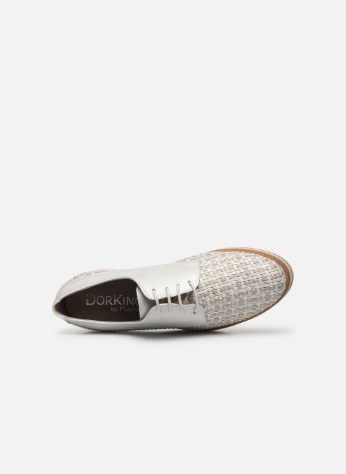 Zapatos con cordones Dorking Romy 7852 Blanco vista lateral izquierda