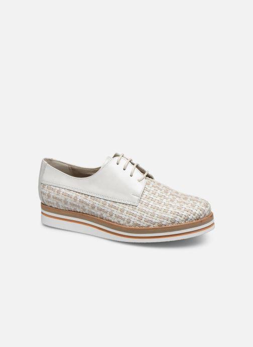 Zapatos con cordones Dorking Romy 7852 Blanco vista de detalle / par