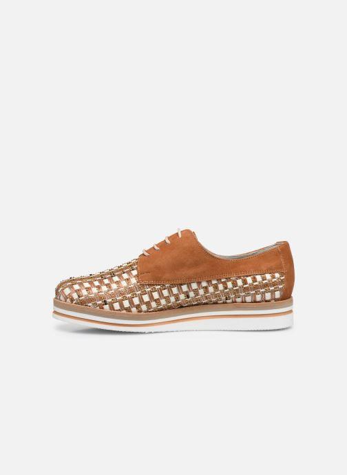 Zapatos con cordones Dorking Romy 7852 Marrón vista de frente