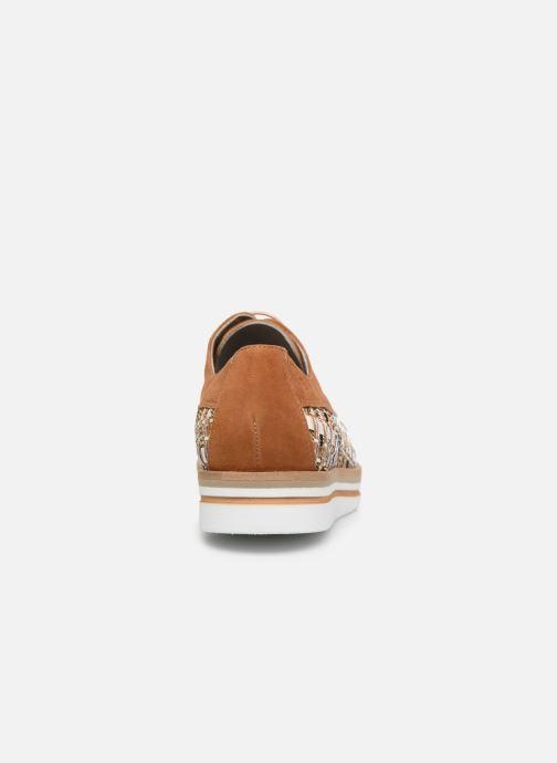 Zapatos con cordones Dorking Romy 7852 Marrón vista lateral derecha