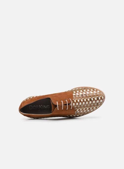 Zapatos con cordones Dorking Romy 7852 Marrón vista lateral izquierda