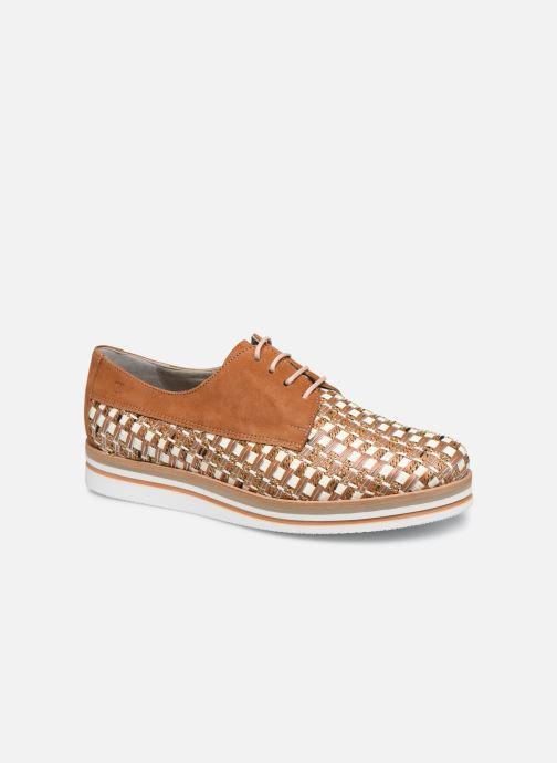 Zapatos con cordones Dorking Romy 7852 Marrón vista de detalle / par