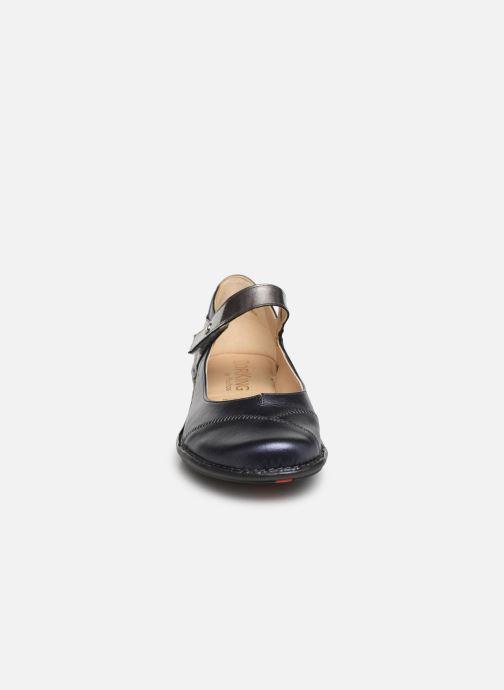 Ballerines Dorking Nicol 7883 Bleu vue portées chaussures