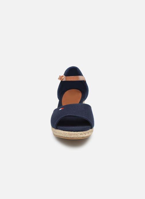 Espadrilles Tommy Hilfiger Rope Wedge Sandal Bleu vue portées chaussures