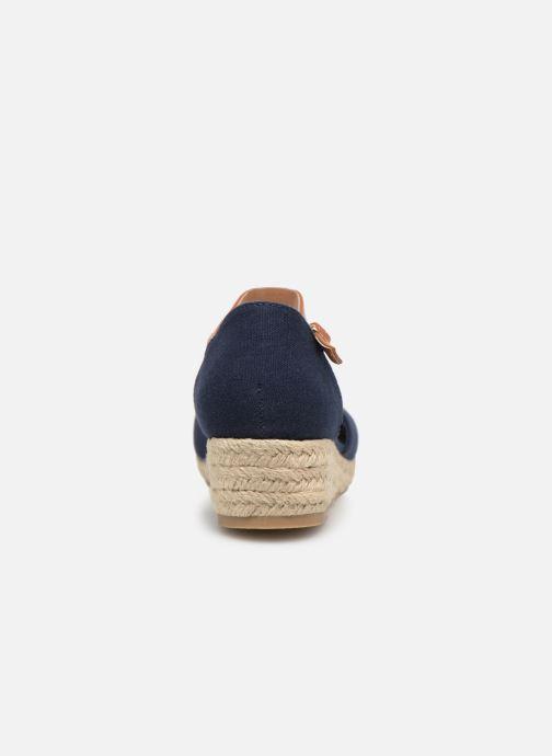 Espadrilles Tommy Hilfiger Rope Wedge Sandal Bleu vue droite