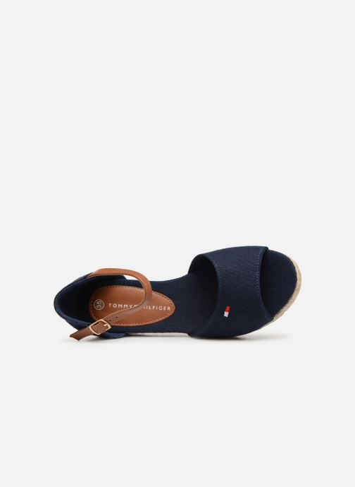 Espadrilles Tommy Hilfiger Rope Wedge Sandal Bleu vue gauche