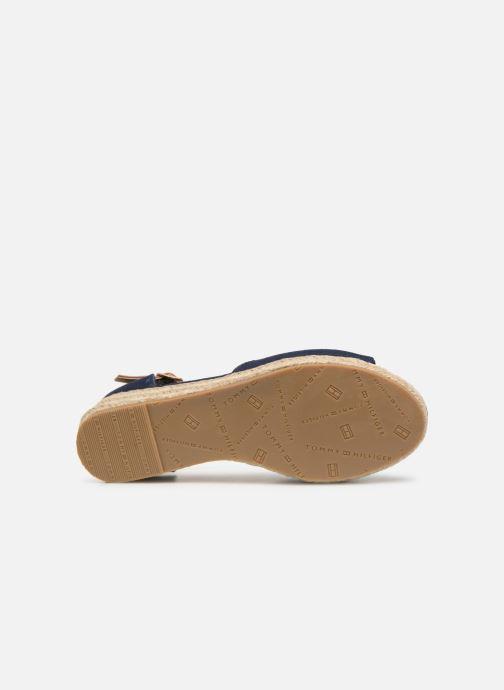 Espadrilles Tommy Hilfiger Rope Wedge Sandal Bleu vue haut