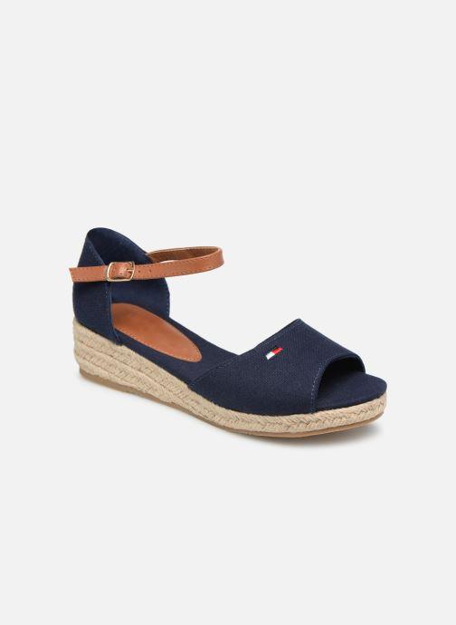 Espadrillos Tommy Hilfiger Rope Wedge Sandal Blå detaljeret billede af skoene