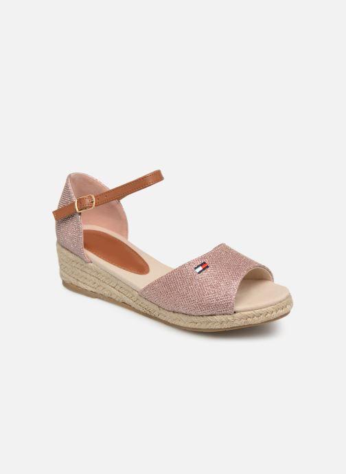 Espadrillos Tommy Hilfiger Rope Wedge Sandal Pink detaljeret billede af skoene