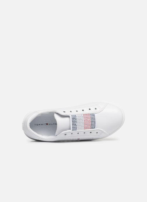 Baskets Tommy Hilfiger Slip-On Sneaker Blanc vue gauche