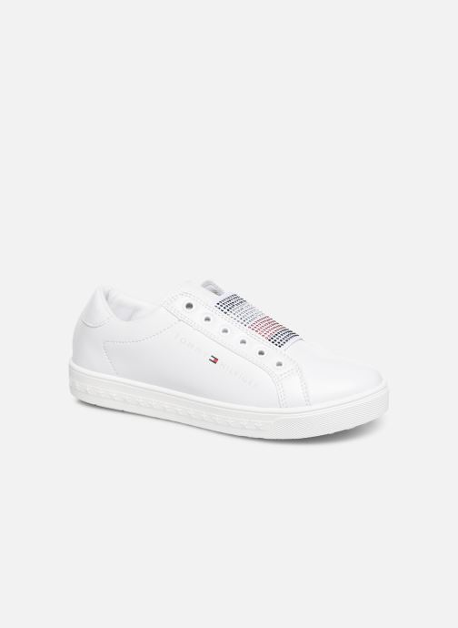 Baskets Tommy Hilfiger Slip-On Sneaker Blanc vue détail/paire