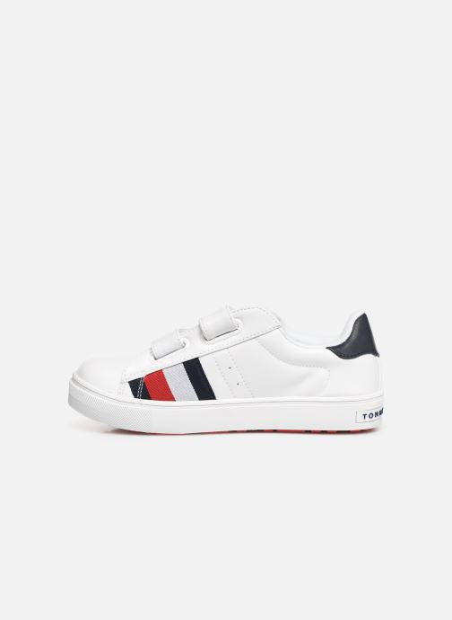 Baskets Tommy Hilfiger Low Cut Velcro Sneaker Blanc vue face