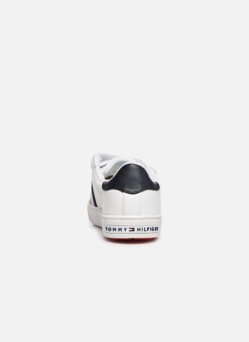 Baskets Tommy Hilfiger Low Cut Velcro Sneaker Blanc vue droite