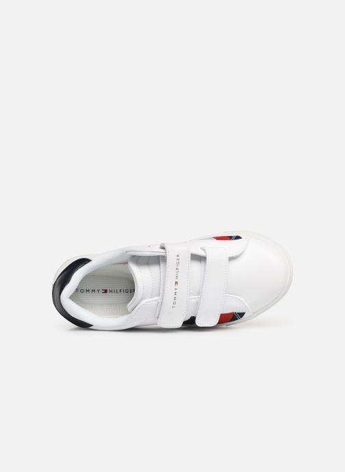 Baskets Tommy Hilfiger Low Cut Velcro Sneaker Blanc vue gauche