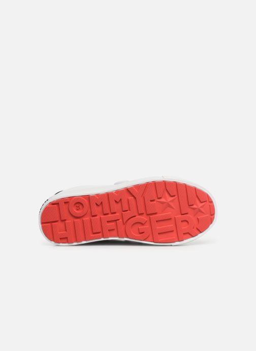 Baskets Tommy Hilfiger Low Cut Velcro Sneaker Blanc vue haut