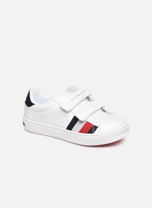 Baskets Tommy Hilfiger Low Cut Velcro Sneaker Blanc vue détail/paire