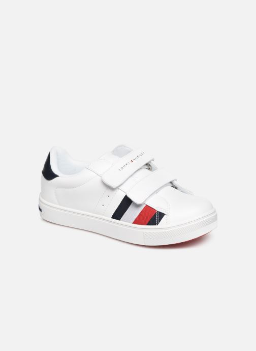 Baskets Tommy Hilfiger Low Cut Velcro Sneaker Blanc vue détail/paire