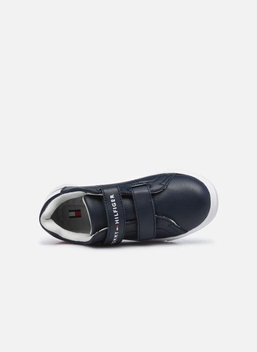 Deportivas Tommy Hilfiger Low Cut Velcro Sneaker Azul vista lateral izquierda