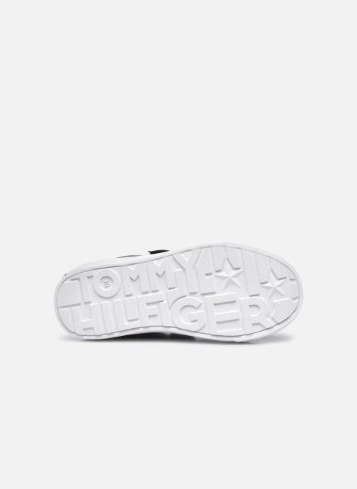 Baskets Tommy Hilfiger Low Cut Velcro Sneaker Bleu vue haut