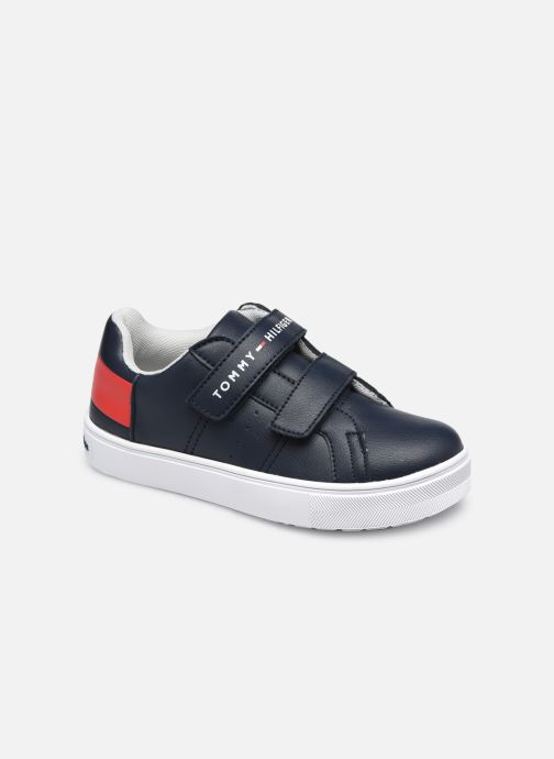 Baskets Tommy Hilfiger Low Cut Velcro Sneaker Bleu vue détail/paire