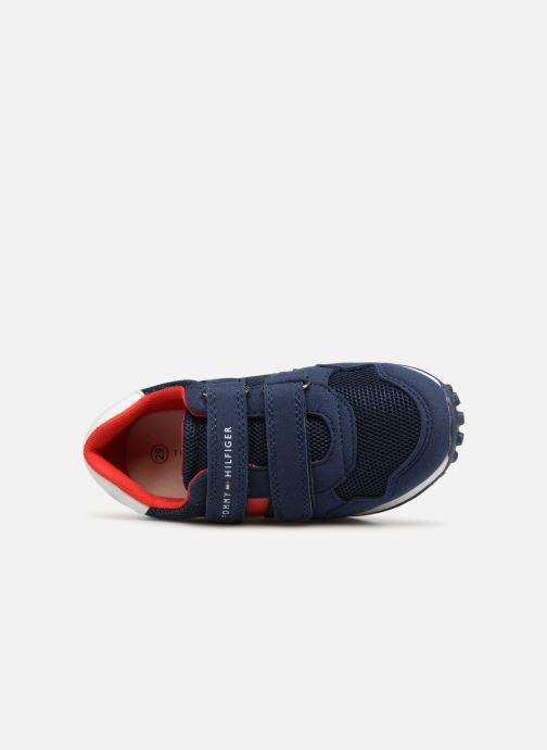 Baskets Tommy Hilfiger Low Cut Velcro Sneaker 2 Bleu vue gauche