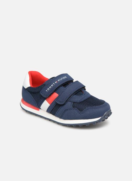Baskets Tommy Hilfiger Low Cut Velcro Sneaker 2 Bleu vue détail/paire